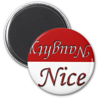 Christmas Holidays Naughty Or Nice 2 Inch Round Magnet
