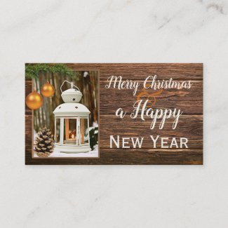 Christmas Holidays Office Thank You Business Card