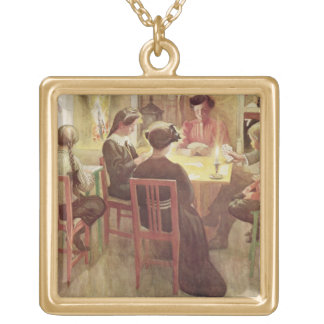 Christmas Holidays, pub. in 'Lasst Licht Hinin' (` Square Pendant Necklace