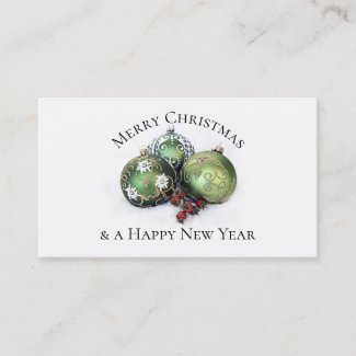 Christmas Holidays Thank You Business Card