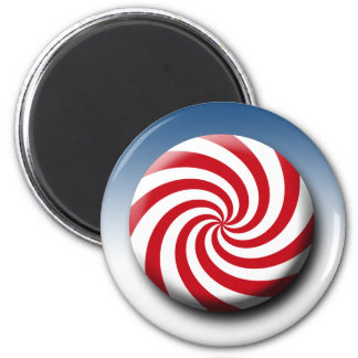 Christmas Holidays Winter Peppermint Candy 2 Inch Round Magnet