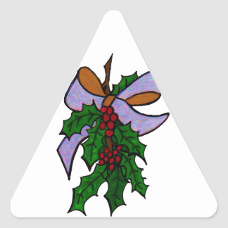 Christmas Holley Triangle Stickers
