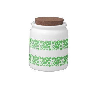Christmas Holly (10 oz) Porcelain Candy Jar
