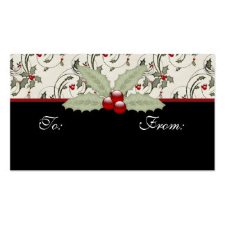 Christmas Holly 2 - Holiday Gift Tags Business Card