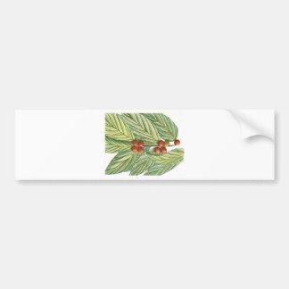 Christmas Holly and Berries Bumper Sticker