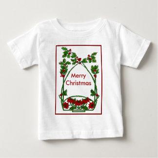 Christmas Holly and Pointsettia T-shirt