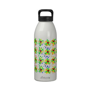 Christmas Holly and Stars Water Bottle