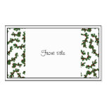 Christmas Holly Background Business Card