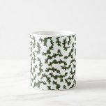 Christmas Holly Background Coffee Mugs