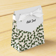 Christmas Holly Background Party Favor Box