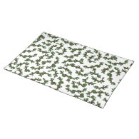 Christmas Holly Background Place Mats