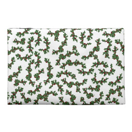 Christmas Holly Background Travel Accessory Bag