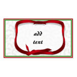 Christmas Holly Background with Gift Tag Business Card