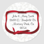 Christmas Holly Background with Gift Tag Sticker