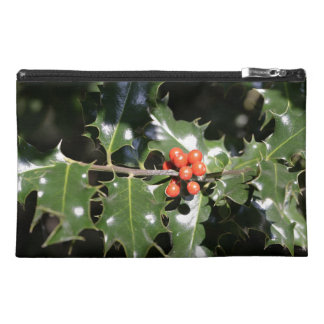 Christmas Holly Berries Travel Accessories Bags