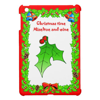 Christmas  holly berries cover for the iPad mini