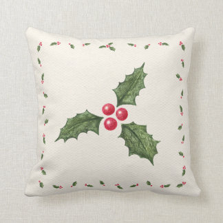 Christmas Holly Berries Pillow