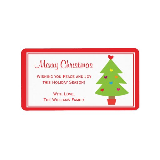 Christmas Holly Berry Gift Tag Labels Personalized Address Labels