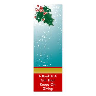 Christmas Holly  Bookmark Mini Business Card