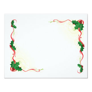 Christmas Holly Border 4.25x5.5 Paper Invitation Card