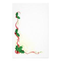 Christmas Holly Border Stationery