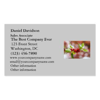 Christmas Holly Business Card
