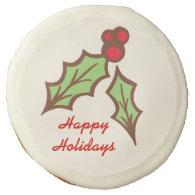 Christmas Holly Cookies Sugar Cookie