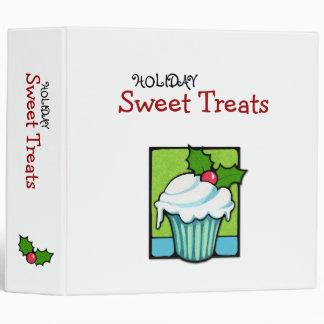 Christmas Holly Cupcake Avery Binder