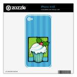 Christmas Holly Cupcake blue iPhone 4/4S Skin iPhone 4S Skin