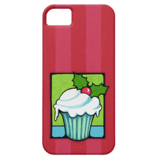 Christmas Holly Cupcake red iPhone 5 Case