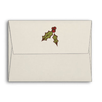 Christmas Holly Envelopes