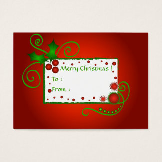 Christmas holly - Gift tag card