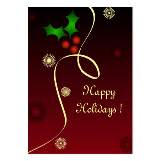 Christmas holly - Gift tag card Large Business Card