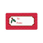 Christmas Holly Gift Tag Labels