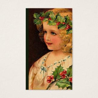 """""""Christmas Holly Girl """" Gift Tag"""