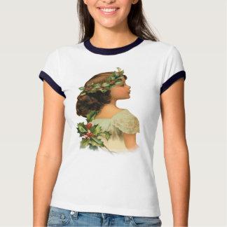 Christmas Holly Girl T-shirt
