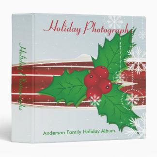 Christmas Holly Holiday Photographs Binder