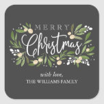 """Christmas Holly - Holiday Sticker<br><div class=""""desc"""">Christmas Holly,  holiday sticker,  customizable. Part of a collection</div>"""