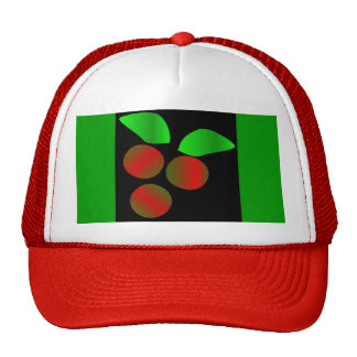 Christmas Holly I In Red Trucker Hat