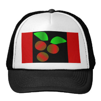 Christmas Holly II In Black Trucker Hat