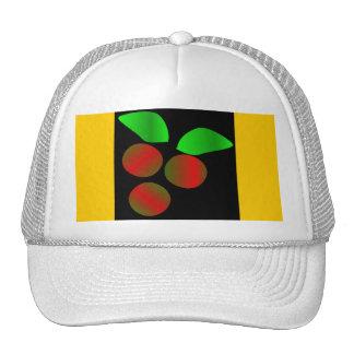 Christmas Holly IV In White Trucker Hat