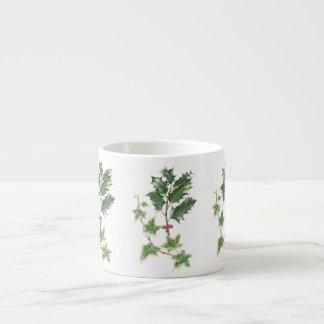 Christmas Holly & Ivy Sprig Espresso Mug