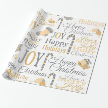 Professional Business Christmas holly joy pattern wrapping paper