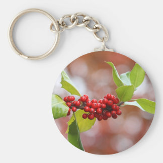 Christmas Holly Key Chain