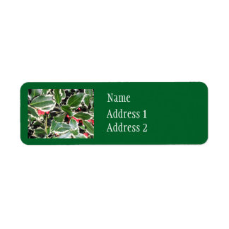 Christmas Holly Label