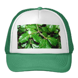 Christmas Holly Leaves Trucker Hat