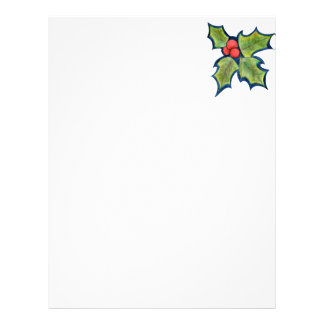 Christmas Holly Leaves, Red Berries Flyer