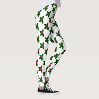 CHRISTMAS HOLLY-LEGGINGS LEGGINGS