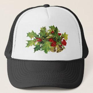 Christmas Holly, MIsteltoe and Brass Bells Trucker Hat