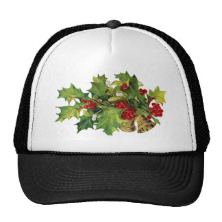 Christmas Holly, MIsteltoe and Brass Bells Trucker Hat